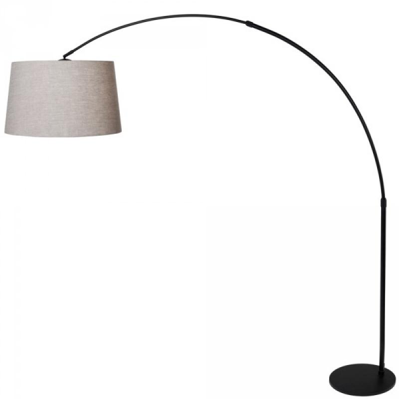 bogenleuchte stresa schwarz grau leuchten. Black Bedroom Furniture Sets. Home Design Ideas