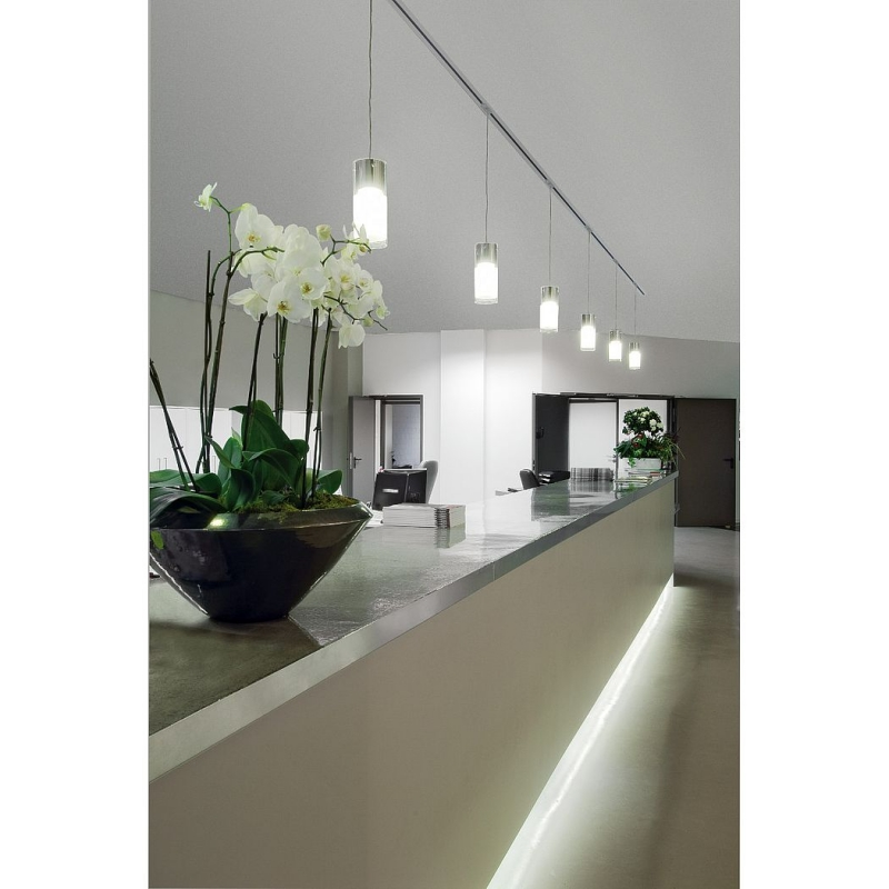 commo pendelleuchte pd 1 rund gx53 max 13w inkl silbergrauem 1. Black Bedroom Furniture Sets. Home Design Ideas