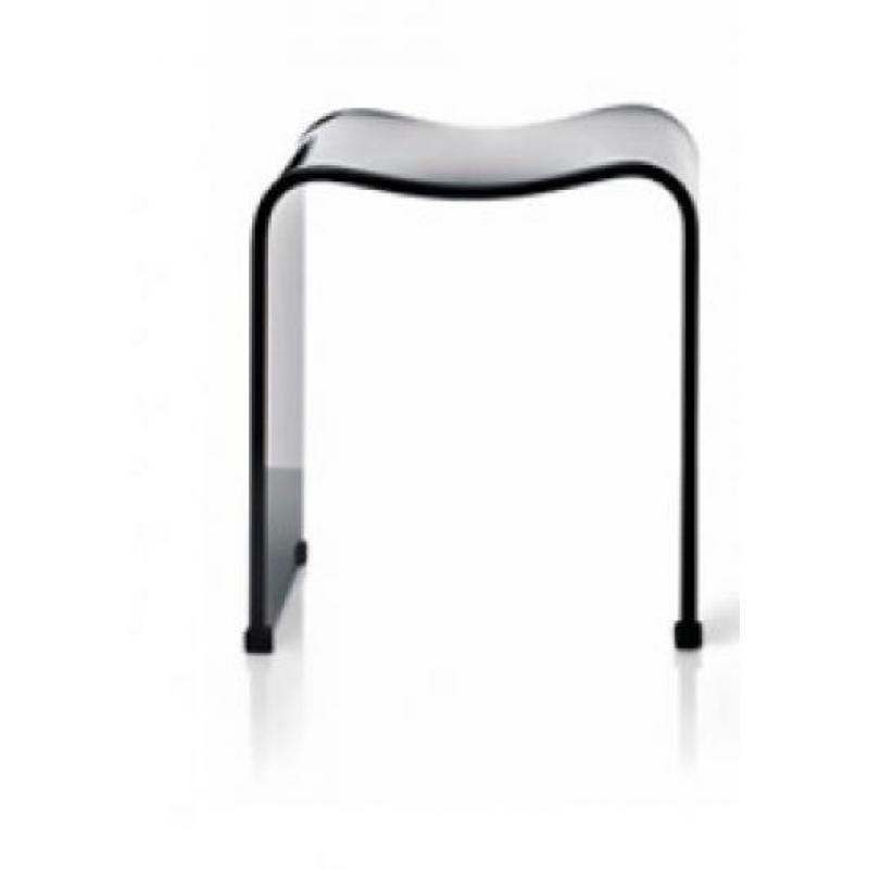 decor walther acrylsitzhocker dw80 schwarz leuchten. Black Bedroom Furniture Sets. Home Design Ideas