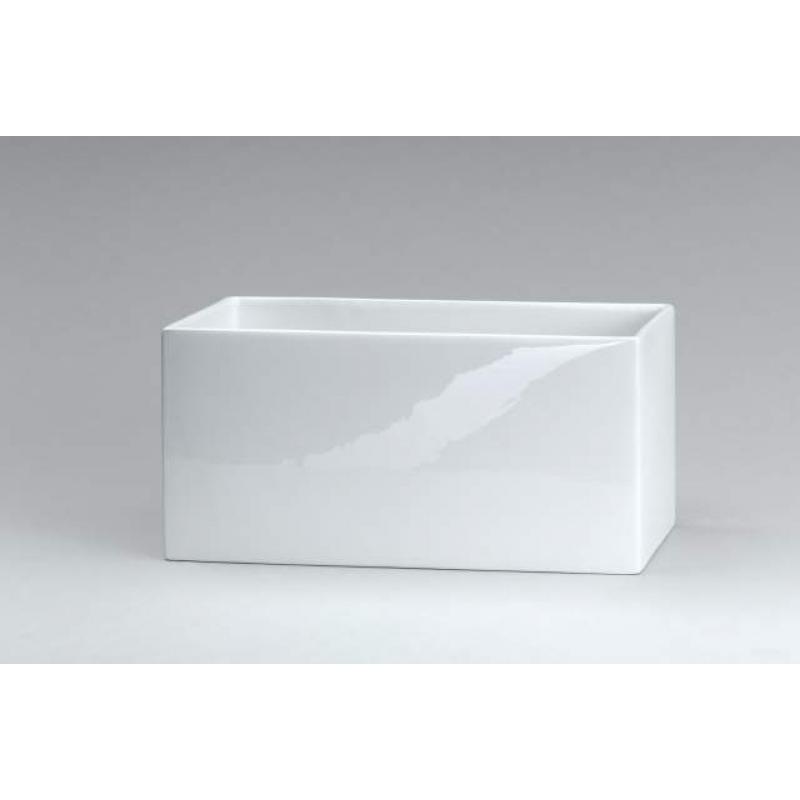 decor walther dw 624 beh lter offen keramik wei. Black Bedroom Furniture Sets. Home Design Ideas