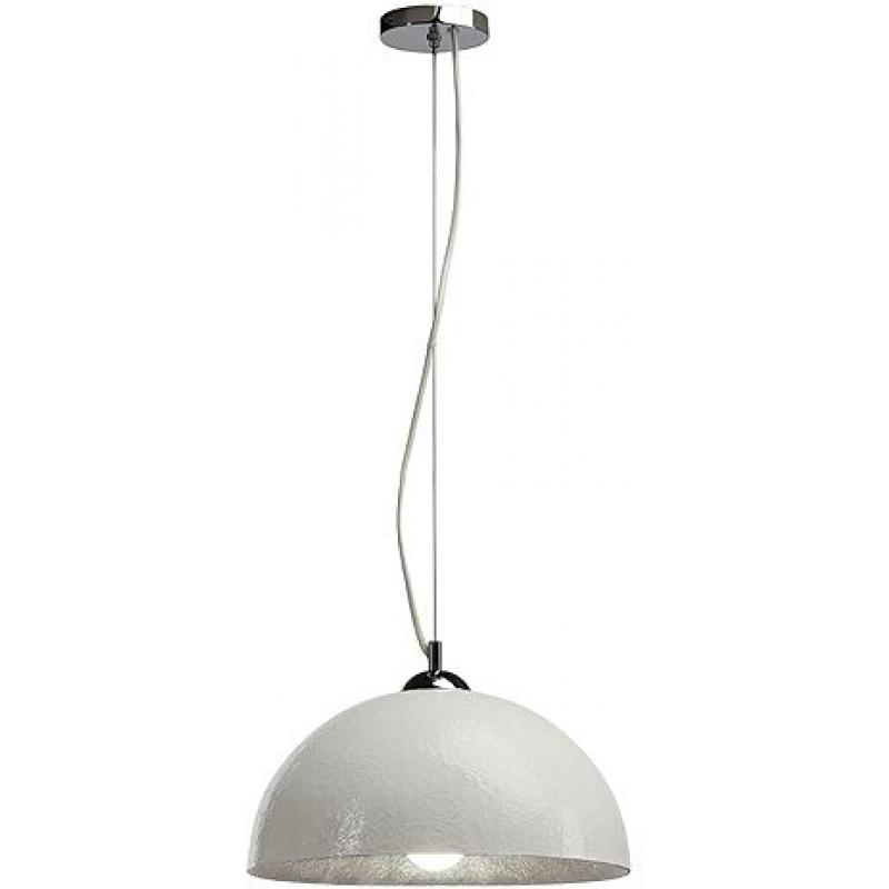 forchini pendelleuchte pd 2 rund weiss silber e27 max 40w. Black Bedroom Furniture Sets. Home Design Ideas