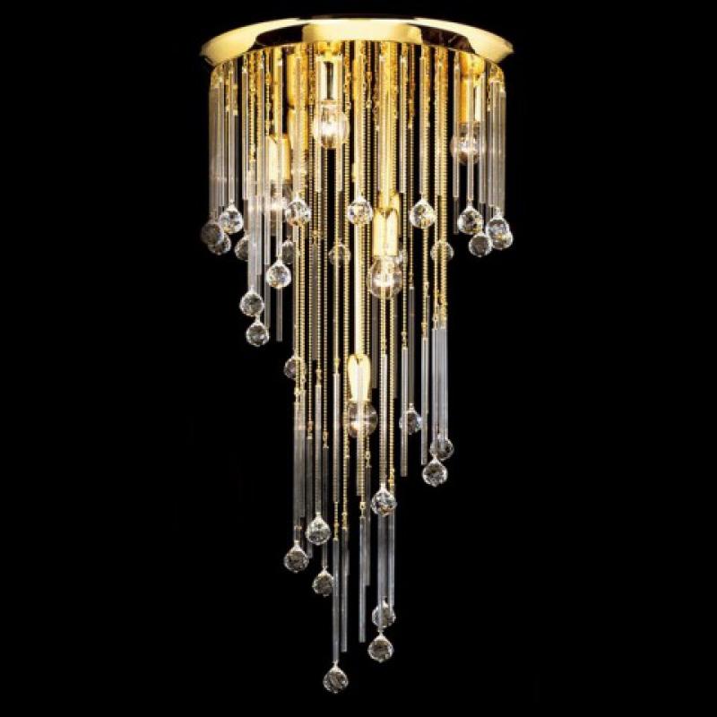 goldkristalldeckenleuchte art deco. Black Bedroom Furniture Sets. Home Design Ideas