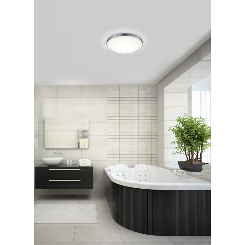 led deckenleuchte vidi large chrom wei. Black Bedroom Furniture Sets. Home Design Ideas