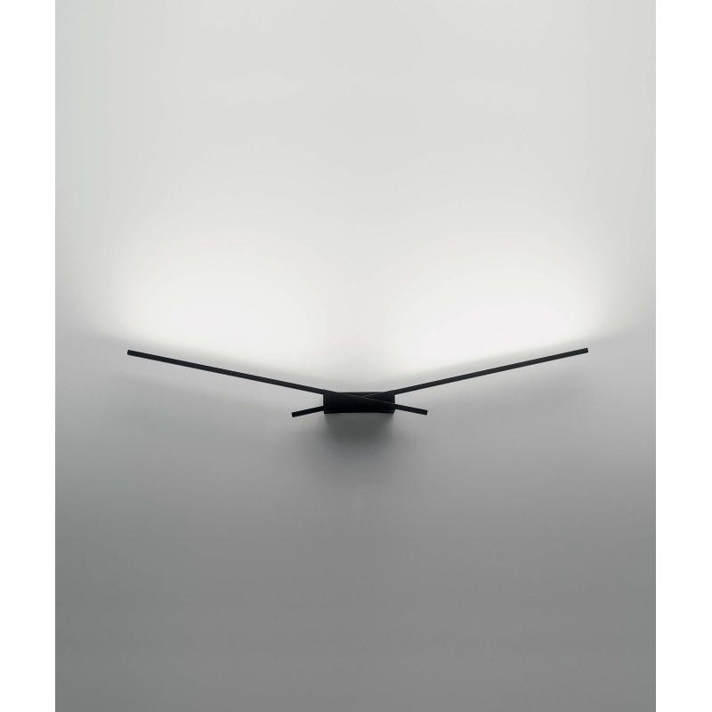 led wandleuchte wings schwarz. Black Bedroom Furniture Sets. Home Design Ideas