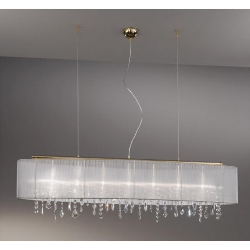 organza pendelleuchte paralume kristall. Black Bedroom Furniture Sets. Home Design Ideas