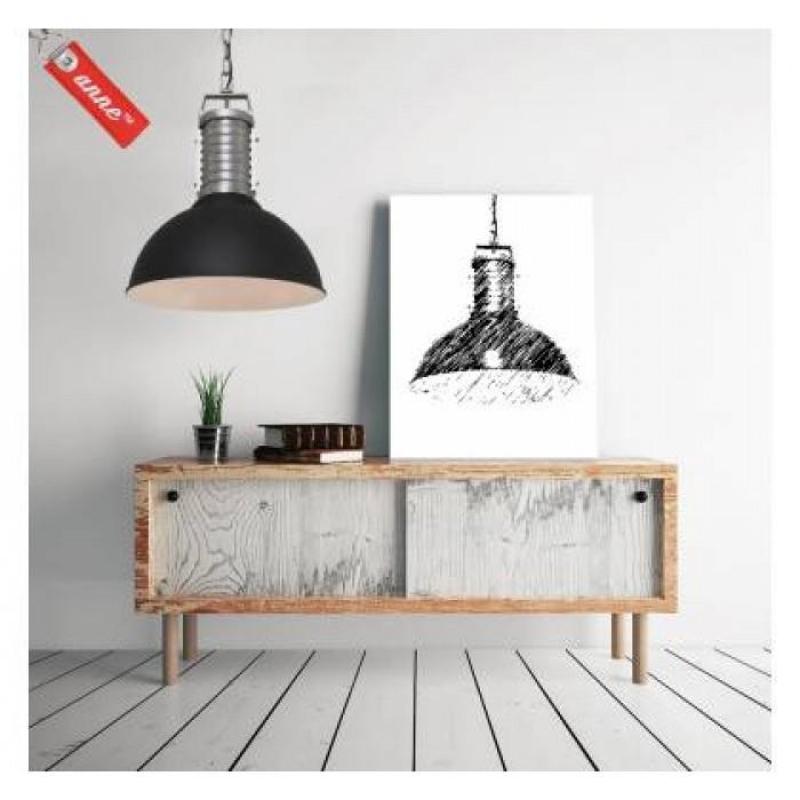 retro pendelleuchte uncle phillipe schwarz von steinhauer anne. Black Bedroom Furniture Sets. Home Design Ideas