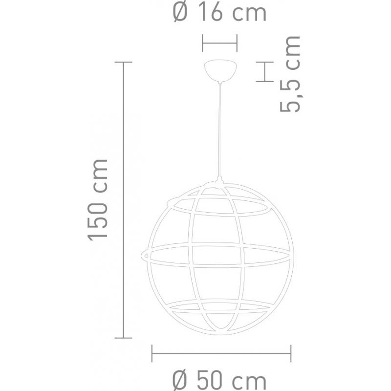 sompex led pendelleuchte globe d50. Black Bedroom Furniture Sets. Home Design Ideas