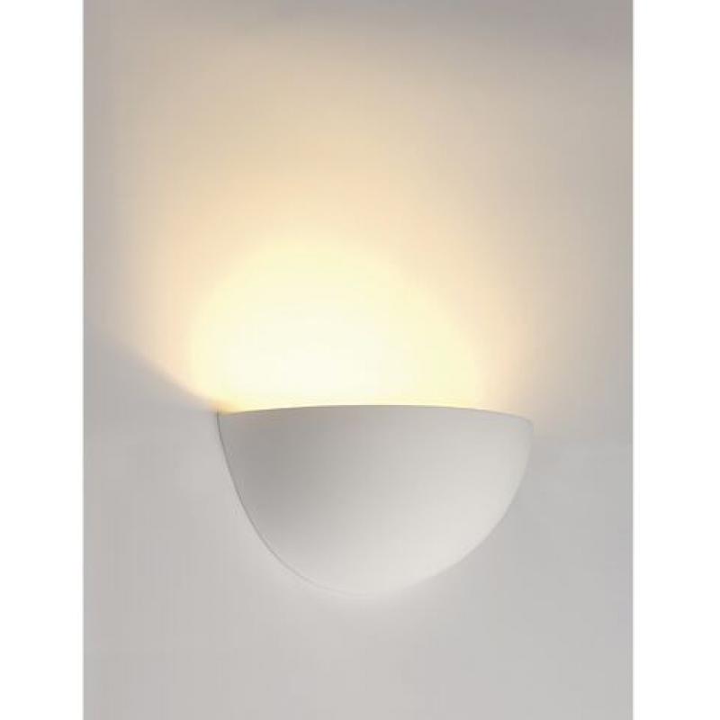 wandleuchte gl 101 e14 halb rund weisser gips max 40w. Black Bedroom Furniture Sets. Home Design Ideas