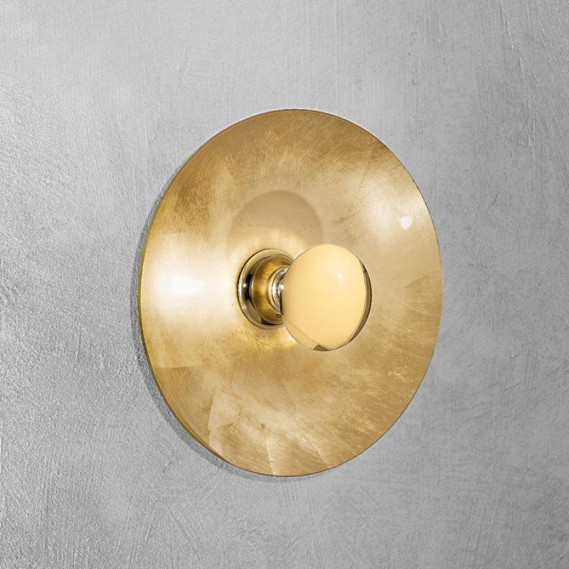 wandleuchte moon 420 gold. Black Bedroom Furniture Sets. Home Design Ideas