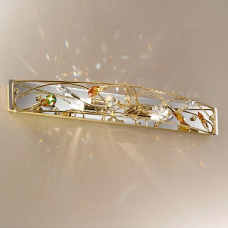 super elegante wandleuchte arabesque gold. Black Bedroom Furniture Sets. Home Design Ideas