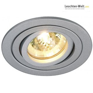 Tria II Downlight, Aluminium, silbergrau, MR16