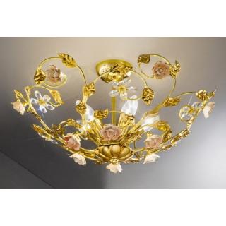 Klassik und landhaus leuchten for Deckenleuchte gold