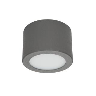 Led wand deckenleuchte circle box small zementgrau for Deckenleuchte led mehrflammig