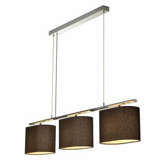 3 fach pendelleuchte triadem schwarz leuchten. Black Bedroom Furniture Sets. Home Design Ideas