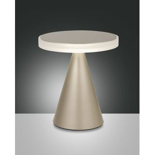 dimmbare Design-LED Tischleuchte Neutra mattgold big